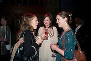 KATIE MARSH; HANNAH PUTSEY; CHARLOTTE WESTENRA, Party after the opening of 'Flea in her Ear' . The Old Vic. ( John Mortimer write the translation of theplay.) Vinioplois. 14 December 2010. DO NOT ARCHIVE-© Copyright Photograph by Dafydd Jones. 248 Clapham Rd. London SW9 0PZ. Tel 0207 820 0771. www.dafjones.com.