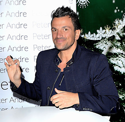 Singer and reality star Peter Andre attends a photocall at Ideal Home Show at Christmas at Earls Court Exhibition Centre, Warwick Road, London on Sunday 23rd September 2014