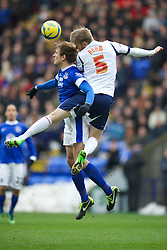 BOLTON, ENGLAND - Saturday, January 26, 2013: Everton's Nikica Jelavic in action against Bolton Wanderers' Tim Ream during the FA Cup 4th Round match at the Reebok Stadium. (Pic by David Rawcliffe/Propaganda)