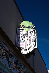 Alien Zone store sign, Roswell, New Mexico, United States of America