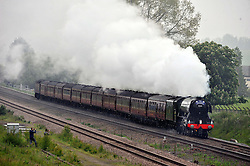 THE FLYING SCOTSMAN, Steaming through Northamptonshire heading North, this Morning Saturday 4th June 2016<br />
