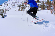 Snowshoeing in Little Lakes Valley, Inyo National Forest, Sierra Nevada Mountains, California
