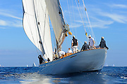 France Saint - Tropez October 2013, Classic Yachts racing at the Voiles de Saint - Tropez<br /> C,K4,CAMBRIA,40,23 MJI BERMUDIEN/1928,WILLIAM FIFE