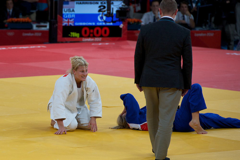 Kayla Harrison winning the gold medal in Judo at the 2012 London Olympics.