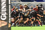 Edinburgh's pack was solid during the Guinness Pro 14 2017_18 match between Edinburgh Rugby and Munster Rugby at Myreside Stadium, Edinburgh, Scotland on 16 March 2018. Picture by Kevin Murray.