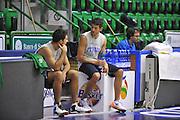 Sassari 15 Agosto 2012 - qualificazioni Eurobasket 2013 - allenamento<br /> Nella Foto : PIETRO ARADORI MASSIMO CHESSA<br /> Foto Ciamillo