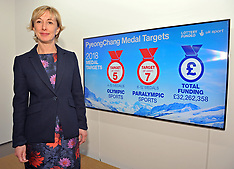 UK Sport medal target announcement for Winter Olympics and Paralympics - 09 January 2018