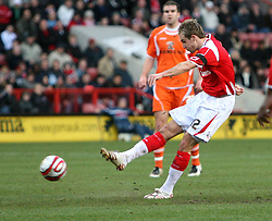 London, England - Saturday, January 12th, 2008:  Charlton Athletic's Luke Varney scores the second goal against Blackpool during the League Championship match at The Valley. (Pic by Chris Ratcliffe/Propaganda)