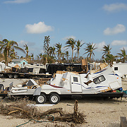 MARATHON, FL - SEPTEMBER 16: <br /> Destruction in the Sunshine Key RV Resort where residents are still not allowed in on September 16, 2017 in Marathon, Florida.  (Photo by Angel Valentin/Getty Images)