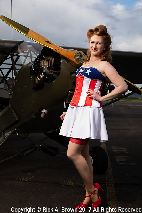 "Pinup ""Lacey Lady"" with Piper L-4."