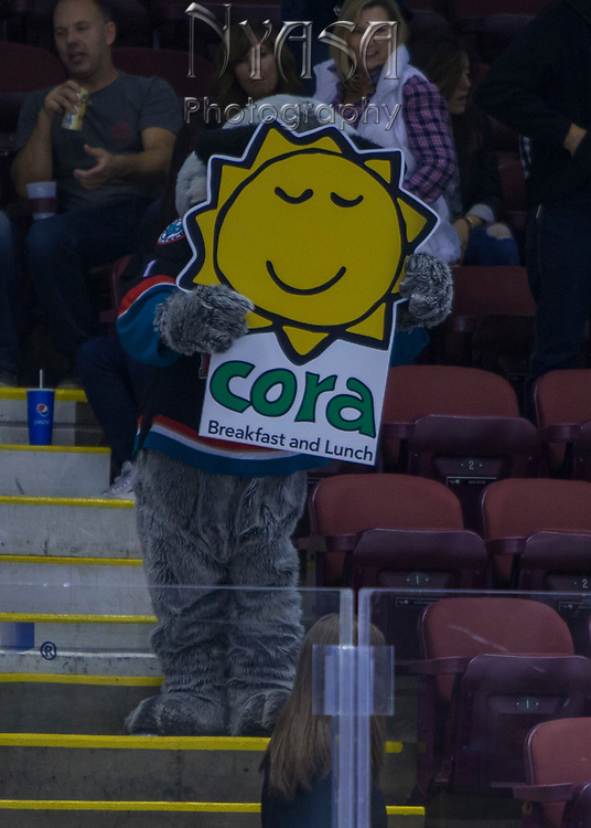KELOWNA, CANADA - OCTOBER 22:  Cora Promotion at the Kelowna Rockets game on October 22, 2017 at Prospera Place in Kelowna, British Columbia, Canada.  (Photo By Cindy Rogers/Nyasa Photography,  *** Local Caption ***