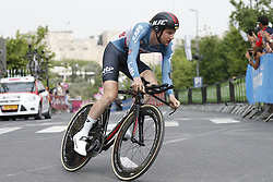 May 4, 2018 - Jerusalem, ISRAEL - Belgian Tim Wellens of Lotto Soudal pictured in action during the first stage of the 101st edition of the Giro D'Italia cycling tour, an individual time trial (9,7km) in Jerusalem, Israel, Friday 04 May 2018...BELGA PHOTO YUZURU SUNADA FRANCE OUT (Credit Image: © Yuzuru Sunada/Belga via ZUMA Press)
