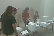 48th Biennale di Venezia, 1999..June 9, 1999..Belgian pavillion in fog..(Photo by Heimo Aga)