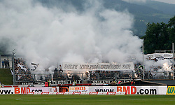 16.05.2015, Stadion Wolfsberg, Wolfsberg, AUT, 1. FBL, RZ Pellets WAC vs SK Puntigamer Sturm Graz, 33. Runde, im Bild v.l. Fans von Sturm Graz // during the Austrian Football Bundesliga 33rd Round match between RZ Pellets WAC and Sturm Graz at the Stadium Wolfsberg in Wolfsberg Austria on 2015/05/16, EXPA Pictures © 2015, PhotoCredit: EXPA/ Wolfgang Jannach