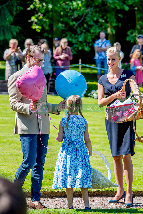 Prince Daniel and his daughter Princess Estelle during the traditionally celebration of Crown Princess Victoria's birthday at the royal family's summer residence, Solliden Palace in Borgholm, Öland, Sweden, on July 15, 2017, a day later Stockholm celebration. Photo by Robin Utrecht/ABACAPRESS.COM