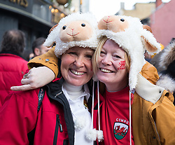 Wales fans outside the City Arms<br /> <br /> Photographer Simon King/Replay Images<br /> <br /> Under Armour Series - Wales v Australia - Saturday 10th November 2018 - Principality Stadium - Cardiff<br /> <br /> World Copyright © Replay Images . All rights reserved. info@replayimages.co.uk - http://replayimages.co.uk