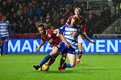Bobby Reid of Bristol City is tackled by Paul McShane of Reading - Mandatory by-line: Dougie Allward/JMP - 26/12/2017 - FOOTBALL - Ashton Gate Stadium - Bristol, England - Bristol City v Reading - Sky Bet Championship