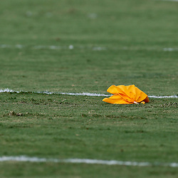 Aug 3, 2013; Metairie, LA, USA; A detail of an officials flag during a scrimmage for the New Orleans Saints at the team training facility. Mandatory Credit: Derick E. Hingle-USA TODAY Sports