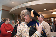 18033Founders Day Celebration  in New Baker Center 2/02/07...Provost Krendl with Miriam McLaughlin's family