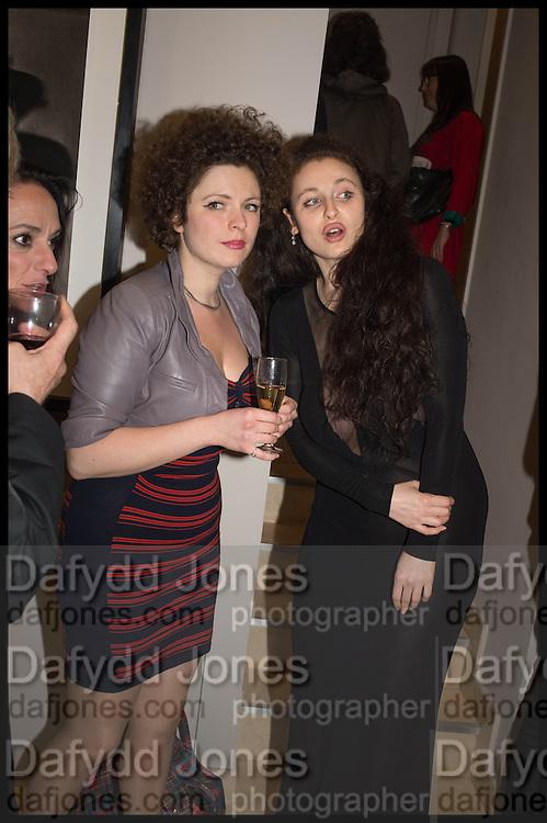 ELEESA DADIANI; NEDKA BAVLIKU;, Nina Fowler works curated by James Birch, The launch of Dadiani Fine Art, 30 Cork St. London.  24 November 2014