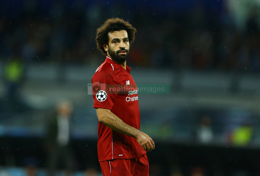 October 3, 2018 - Naples, Italy - SSC Napoli v FC Liverpool - UEFA Champions League Group C.Mohamed Salah of Liverpool at San Paolo Stadium in Naples, Italy on October 3, 2018. (Credit Image: © Matteo Ciambelli/NurPhoto/ZUMA Press)