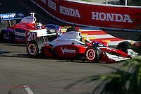 Ed Carpenter and Kosuke Matsuura at St. Petersburg, Honda Grand Prix of St. Petersburg, April 3, 2005