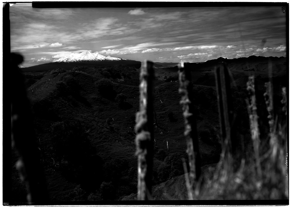 Mt. Ruapehu as seen from the road to Raetihi, New Zealand.