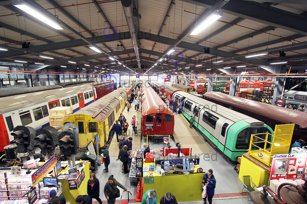 London Transport Museum Depot at Acton, 13 April 2013, (Photo by Richard Goldschmidt)