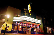 Exterior of the County Theater in Doylestown, PA. for story about the revitalization of Doylestown as an entertainment town.