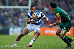 Anthony Watson of Bath Rugby - Photo mandatory by-line: Patrick Khachfe/JMP - Mobile: 07966 386802 04/01/2015 - SPORT - RUGBY UNION - Leicester - Welford Road - Leicester Tigers v Bath Rugby - Aviva Premiership