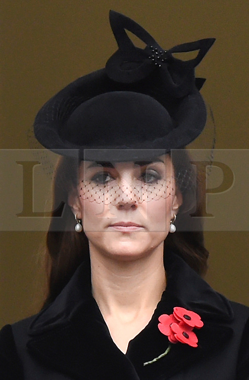 © Licensed to London News Pictures. 08/11/2015. London, UK. CATHERINE, DUCHESS OF CAMBRIDGE attends the Remembrance Sunday Service at the Cenotaph in Westminster, Central London.. Photo credit: Ben Cawthra/LNP