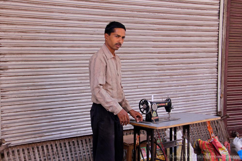 Asia, India, New Delhi. Tailor in Old Delhi.