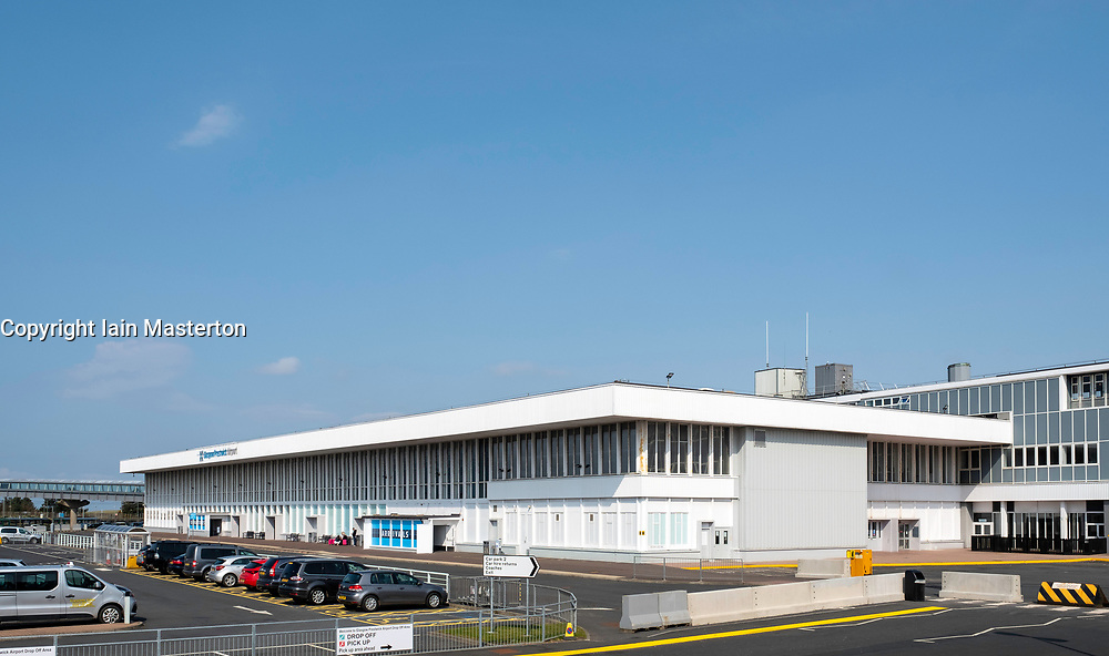 Prestwick Airport in Ayrshire, Scotland, UK