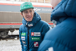 Peter Prevc prior to the driving of Slovenian National Ski jumping Team from Ljubljana by train to the FIS World Cup Ski Jumping Final Planica 2018, on March 21, 2018 in Ljubljana, Slovenia. Photo by Urban Urbanc / Sportida