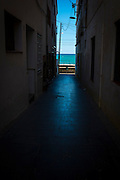 """Passatge del Mar. Pathway to the Mediterranean. Sant Pol de Mar, Catalonia This mage can be licensed via Millennium Images. Contact me for more details, or email mail@milim.com For prints, contact me, or click """"add to cart"""" to some standard print options."""