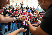 Members of the Black Army supporters group chant and clap before the start of the final game of the Chivas USA franchise at the StubHub Center in Carson, Calif., on Oct. 26, 2014. Chivas USA defeated the San Jose Earthquakes 1-0.
