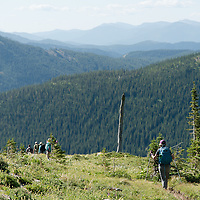 hikers lee creek trail badger two medicine