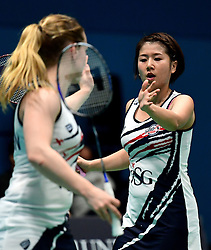 Mizuki Fuji of Bristol Jets and Jess Hopton of Bristol Jets  - Photo mandatory by-line: Robbie Stephenson/JMP - 07/11/2016 - BADMINTON - University of Derby - Derby, England - Team Derby v Bristol Jets - AJ Bell National Badminton League