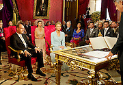 01.JULY.2011. MONACO<br /> <br /> ROYAL WEDDING OF PRINCE ALBERT OF MONACO AND CHARLENE WITTSTOCK IN THE SALLE DU TRONE AT MONACO PRINCE PALACE<br /> <br /> BYLINE: EDBIMAGEARCHIVE.COM<br /> <br /> *THIS IMAGE IS STRICTLY FOR UK NEWSPAPERS AND MAGAZINES ONLY*<br /> *FOR WORLD WIDE SALES AND WEB USE PLEASE CONTACT EDBIMAGEARCHIVE - 0208 954 5968*