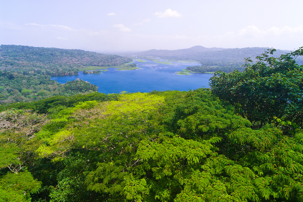 View of the Chagres River, Soberania National Park, near the Panama Canal, Panama