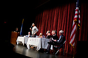 President of the Professional Fire Fighters of Wisconsin Mahlon Mitchell speaks during the public forum for Democratic gubernatorial candidates at LaFollete High School in Monona, Wisconsin., Sunday, Jan. 28, 2018.
