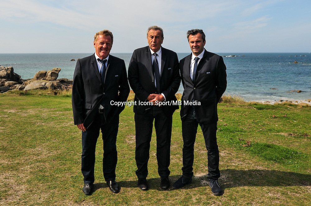 Alex Dupont / Yvon Kermarec / Jean Costa - 09.09.2015- Photo Officielle de Brest - Ligue 2<br /> Photo : Philippe Le Brech / Icon Sport