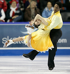 London, Ontario ---10-01-16---  Kharis Ralph and Asher Hill skate their free dance at the 2010 BMO Canadian Figure Skating Championships in London, Ontario, January 16, 2010. .GEOFF ROBINS/Mundo Sport Images..