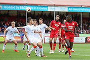 Crawley Town Midfielder Enzio Boldewijn heads at goal during the EFL Sky Bet League 2 match between Crawley Town and Luton Town at the Checkatrade.com Stadium, Crawley, England on 17 September 2016. Photo by Phil Duncan.