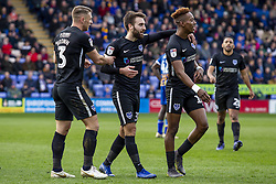 March 23, 2019 - Shrewsbury, England, United Kingdom - Ben Close of Portsmouth FC celebrates after scoring the opening goal with Jamal Lowe of Portsmouth FC during the Sky Bet League 1 match between Shrewsbury Town and Portsmouth at Greenhous Meadow, Shrewsbury on Saturday 23rd March 2019. (Credit: Alan Hayward   MI News  (Credit Image: © Mi News/NurPhoto via ZUMA Press)