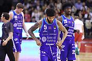 Petteway Terran delusione Sassari, GRISSIN BON REGGIO EMILIA vs BANCO DI SARDEGNA SASSARI, Campionato Lega Basket Serie A 2018/2019, PalaBigi 7 ottobre 2018 - FOTO: Bertani/Ciamillo