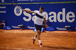 April 23, 2018 - Barcelona, Spain - BARCELONA, SPAIN - APRIL 23: Guillermo Garcia Lopez from Spain during the Barcelona Open Banc Sabadell 66º Trofeo Conde de Godo at Reial Club Tenis Barcelona on 23 of April of 2018 in Barcelona. (Credit Image: © Xavier Bonilla/NurPhoto via ZUMA Press)