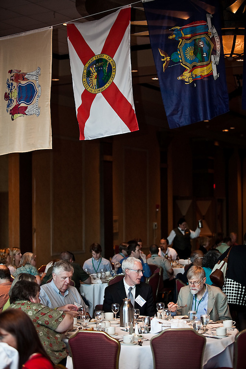 Participants have dinner at the National Rural Assembly on Tuesday, June 27, 2011.