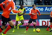 Luton Town midfielder Andrew Shinnie (11) on the ball during the EFL Sky Bet League 2 match between Luton Town and Notts County at Kenilworth Road, Luton, England on 9 December 2017. Photo by Nigel Cole.