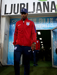 Daniel Sturridge of England arrives at The SRC Stozice Stadium ahead of the World Cup Qualifier against Slovenia - Mandatory by-line: Robbie Stephenson/JMP - 10/10/2016 - FOOTBALL - SRC Stozice - Ljubljana, England - England Press Conference